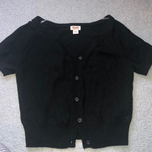 Short-Sleeved Black Cardigan